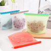 Factory cheap price high quality reusable silicone food bag 1500ml large size storage silicone food bag for kitchen