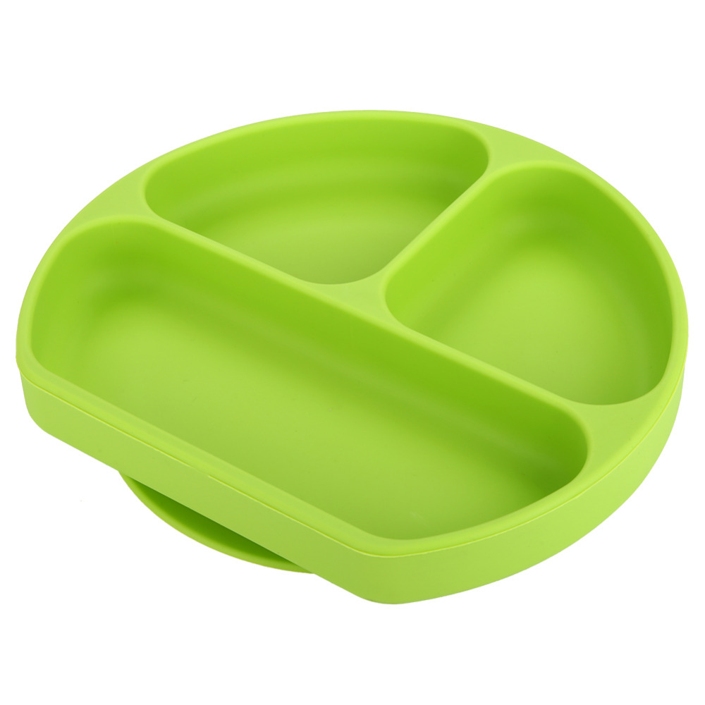 Self Feeding Plate Silicone Grip Dish for Toddler Silicone Baby Feeding Placemat With Anti-slip Suction Fit for Highchair Slip-resistant Baby Plates Waterproof Snack Mat Bowl